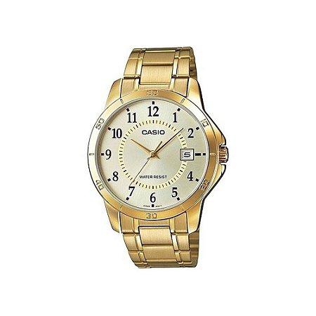 bc047117169 Relógio Casio Analógico Masculino Folheado Mtp-v004g-9budf - Megamix ...