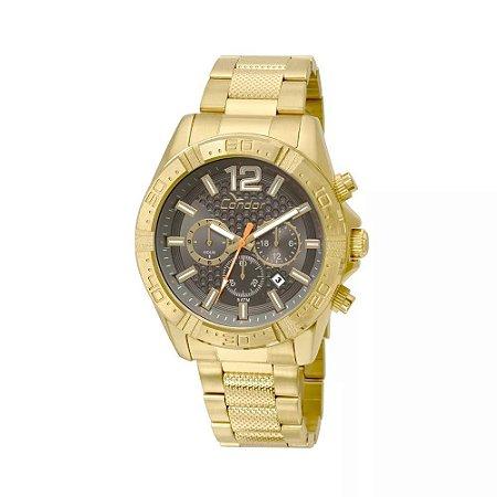 fbfcd2286d0 Relógio Masculino Dourado Cronógrafo Condor COVD33AR 4C - Megamix Eletro