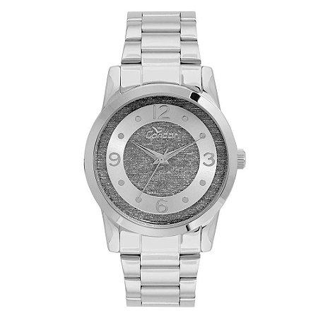 81fe8fda3a Relógio Condor Feminino Glitter Prata - CO2039AP 3C - Megamix Eletro