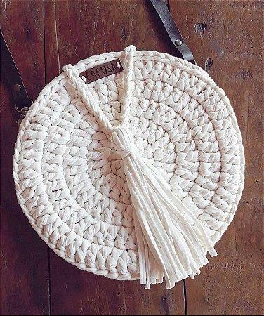 Bolsa redonda Off white