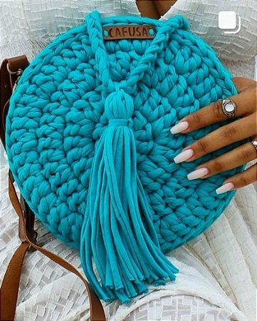 Bolsa redonda Azul Tiffany
