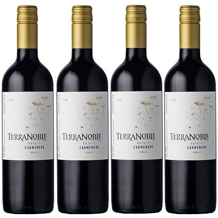 Box Vinho Terranoble Estate Carmenere 750ml - 04un