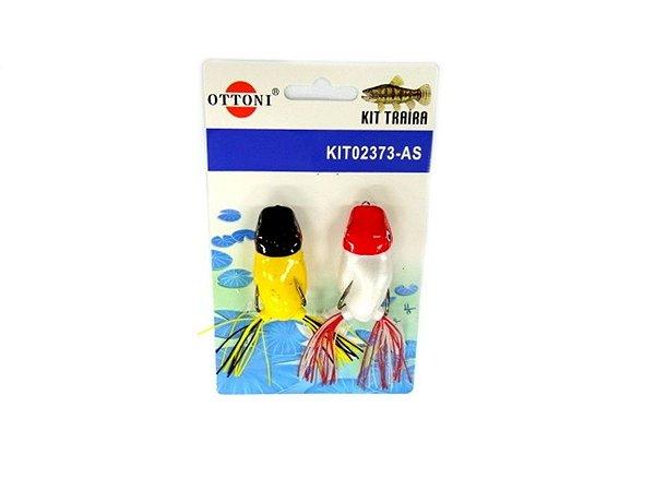 Isca Silicone Sapo 02373 Cartela c/ 2 Unidades - Ottoni