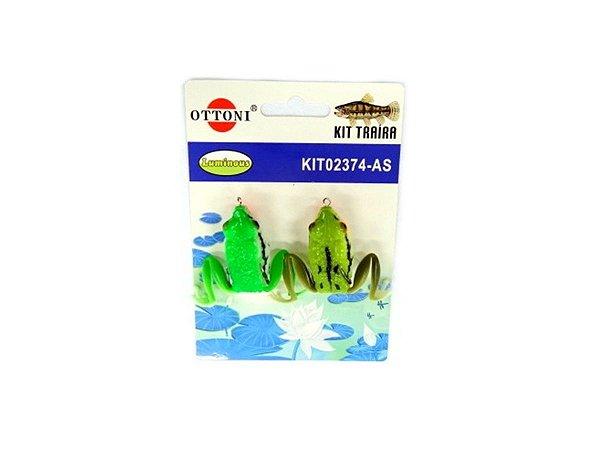 Isca Silicone Sapo 02374 Cartela c/ 2 Unidades - Ottoni