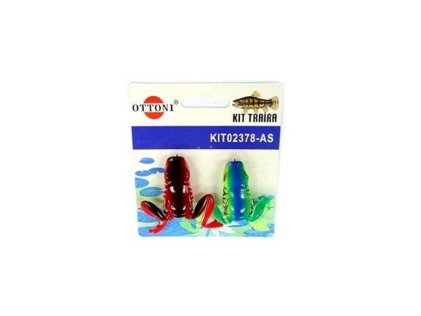 Isca Silicone Sapo 02378 Cartela c/ 2 Unidades - Ottoni