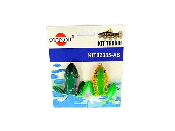 Isca Silicone Sapo 02385 Cartela c/ 2 Unidades - Ottoni