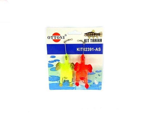 Isca Silicone Franguinho 02391 Cartela c/ 2 Unidades - Ottoni