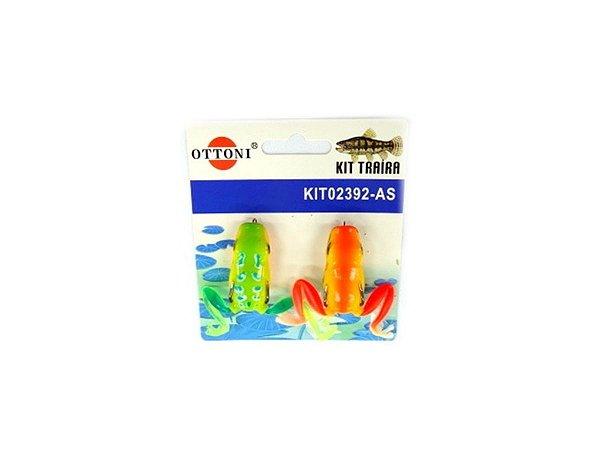 Isca Silicone Sapo 02392 Cartela c/ 2 Unidades - Ottoni