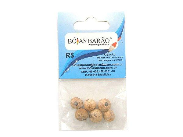 Miçanga Coquinho Natural N.57 Pacote c/ 6 Unidades - Bóias Barão
