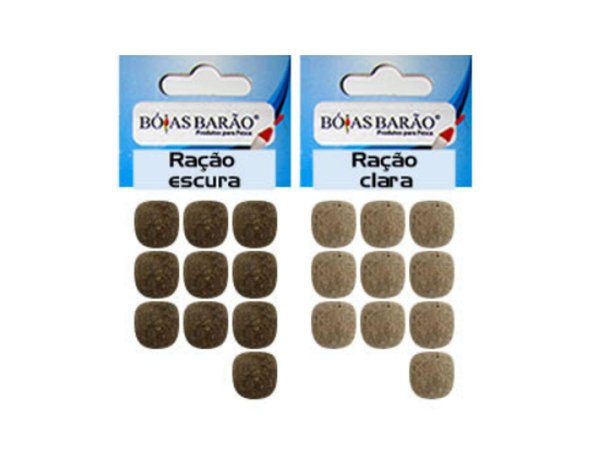 Eva Formato de Ração p/ Pesca Empanado 11mm Pacote c/ 10 Unidades - Bóias Barão