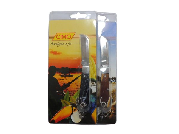 Canivete Inox Cabo de Acrílico Cores Sortidas - Cimo