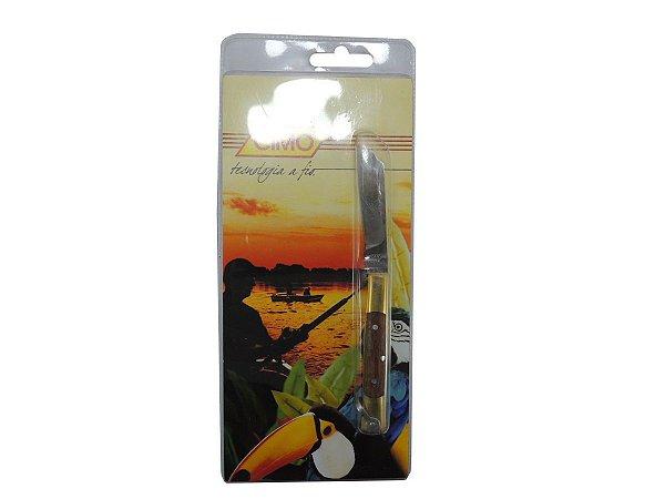 Canivete Inox Cabo de Latão c/ Cimowood - Cimo