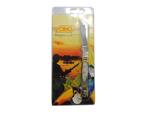 Canivete Inox 310/3 Cabo de Latão e Chifre - Cimo