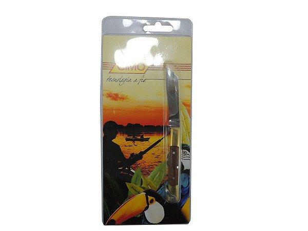 Canivete Inox Cabo de Latão c/ Madeira Cores Sortidas - Cimo