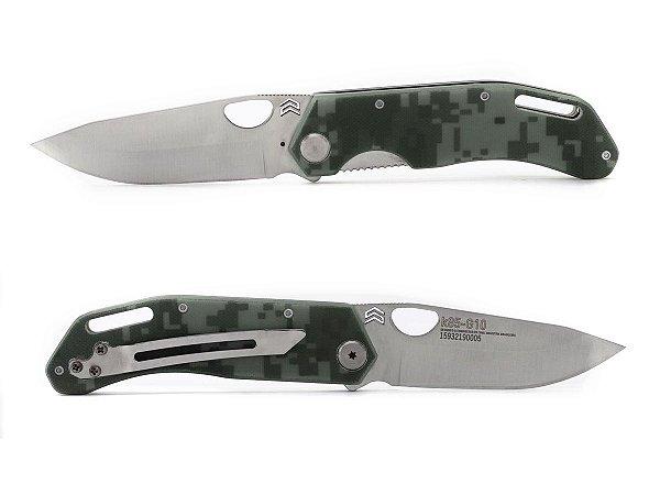 Canivete Komodo Inox Cabo G10 c/ Clip - Cimo