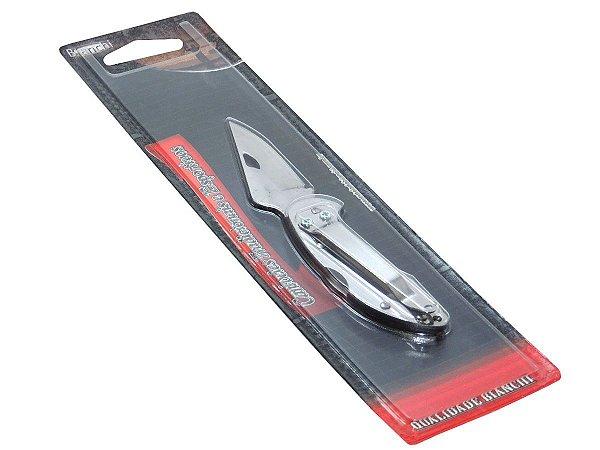 """Canivete Inox Bloq 3"""" c/ Trava - Bianchi"""