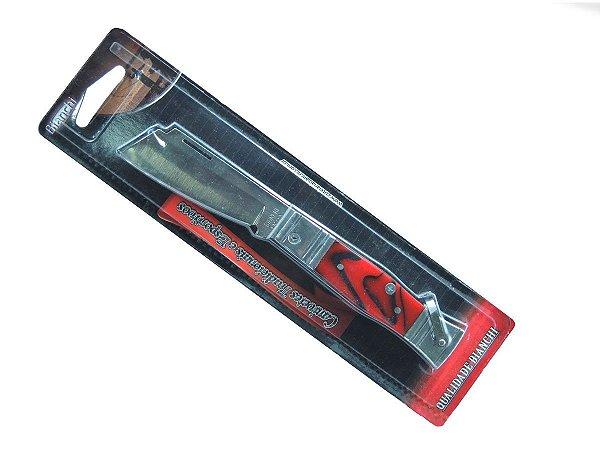 """Canivete Tradicional Cabo de Alumínio e Acrílico Vermelho 3 1/4"""" - Bianchi"""