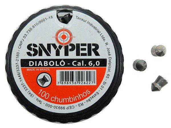 Chumbinho Diabolô 6,0mm c/ 100 Unidades - Snyper