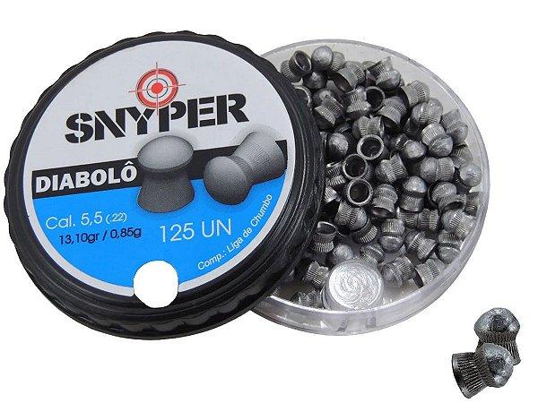 Chumbinho Diabolô 5,5mm c/ 125 Unidades - Snyper