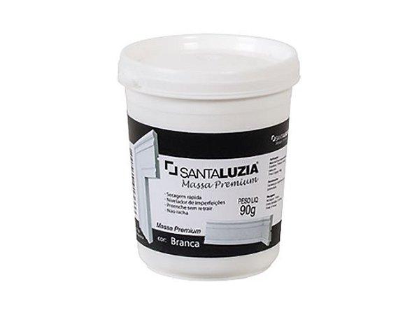 Massa Premium Santa Luzia 90 gramas branca - usado para calafetar entre as barras