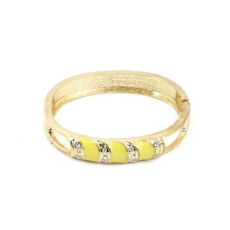 Pulseira Bracelete Dourado e Amarelo