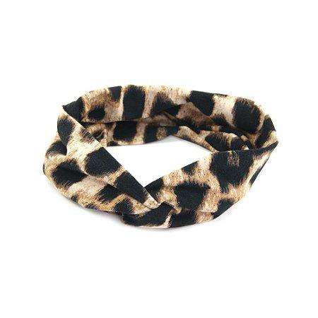 Headband Turbante Oncinha