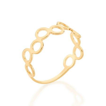 Anel Dourado Círculos Dourados Rommanel