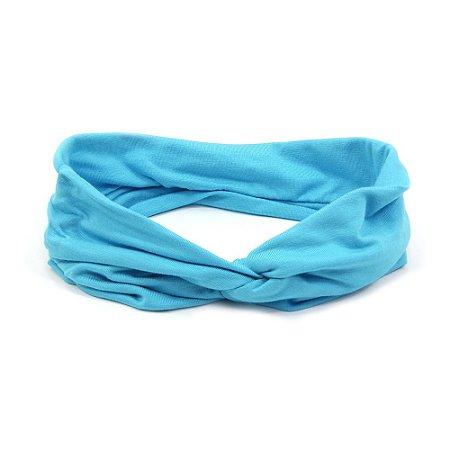 Headband Turbante Azul Piscina
