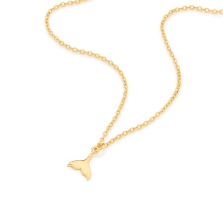 Gargantilha Dourada Cauda de Sereia Rommanel