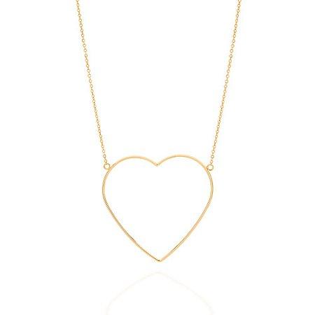 Maxi Colar Dourado com Coração Rommanel