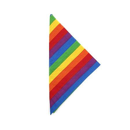Lenço tipo Bandana Arco Íris LGBT