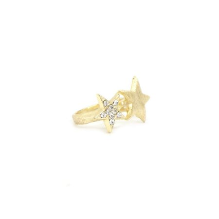 Anel Dourado com Estrelas