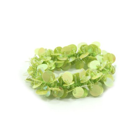 Scrunchie Verde com Paetê