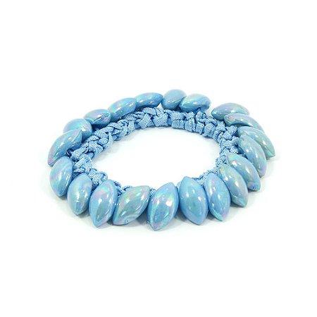 Scrunchie Azul com Navetes