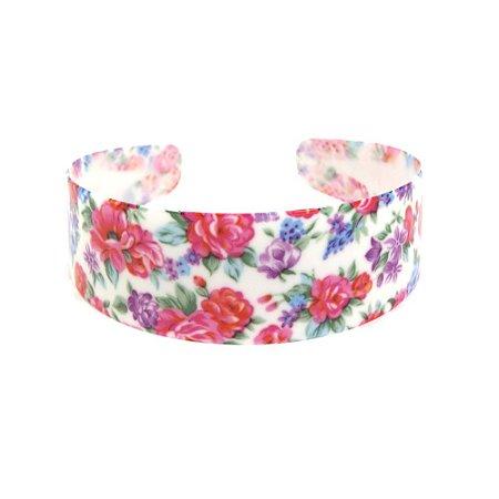 Tiara Branca Com Flores