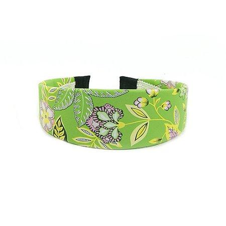 Tiara Larga Verde Floral