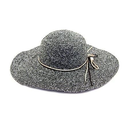 Chapéu Preto Com Laço de camurça