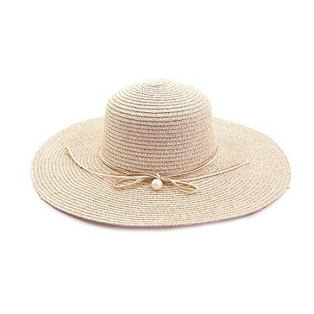 Chapéu Marfim Com Laço de camurça