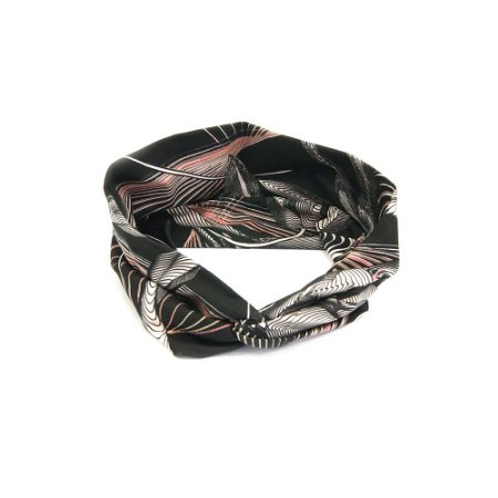 Headband Turbante Preto Riscado