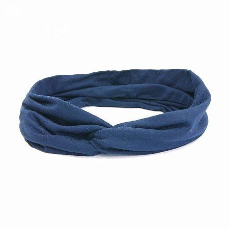 Headband Turbante Azul Marinho