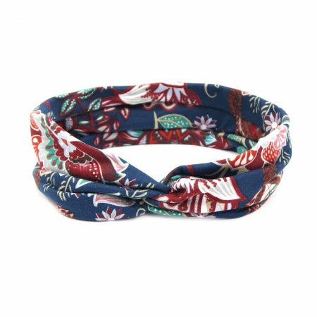 Headband Turbante Azul Floral