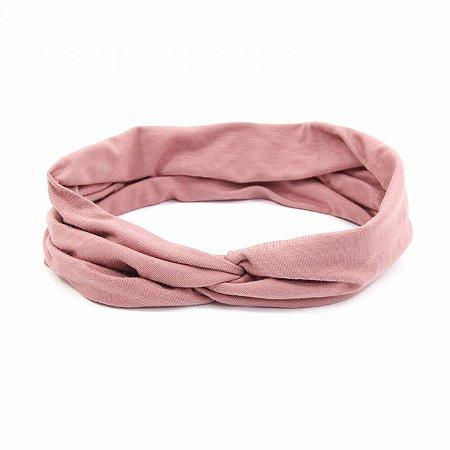 Headband Turbante Rosa Antigo