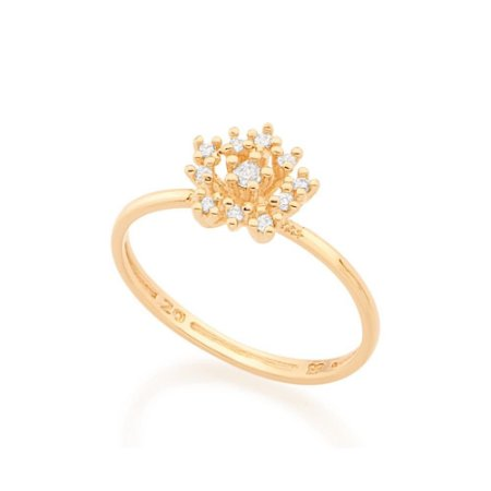 Anel Skinny Ring Flor Rommanel