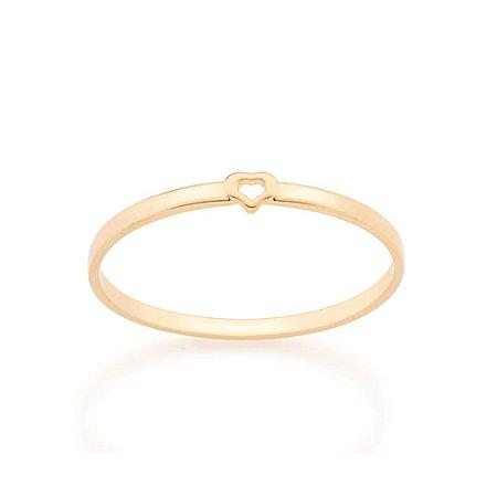 Anel Skinny Ring Mini Coração Rommanel
