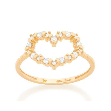Anel Skinny Ring Coração Rommanel