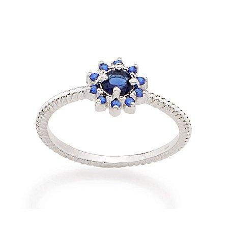 Anel Skinny Ring Azul Rommanel