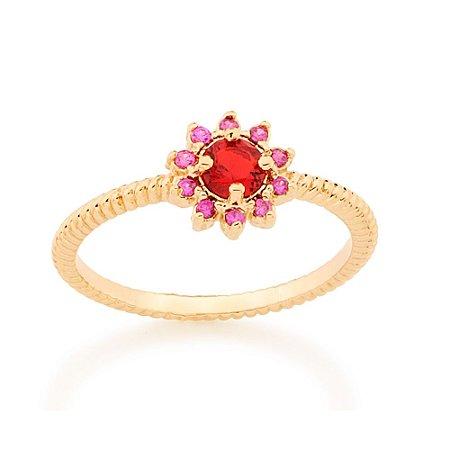 Anel Skinny Ring Vermelho Rommanel