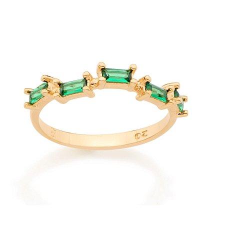Anel Skinny Ring Verde Rommanel