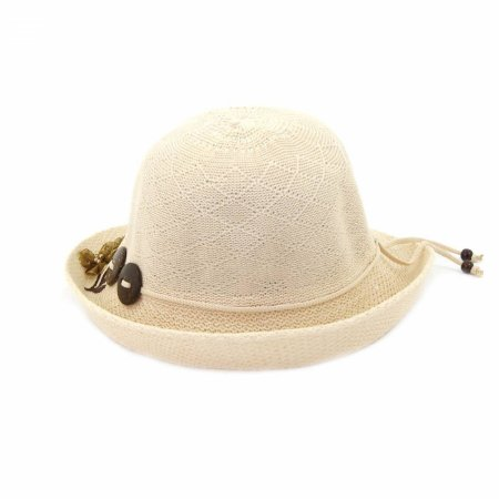 Chapéu Bege Bordado