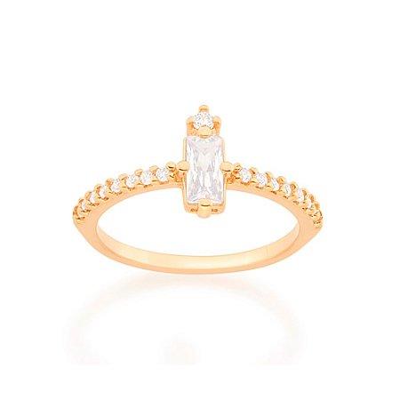 Anel Skinny Ring Zircônia Branco Rommanel